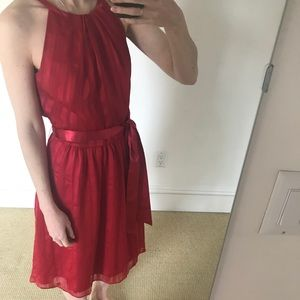 Dresses & Skirts - Collection red waist tie formal dress.